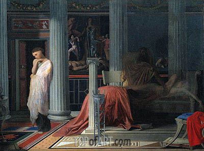 Antiochus and Stratonice, c.1834 | Ingres | Painting Reproduction