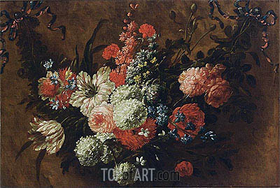A Garland with Flowers, undated | Jean Baptiste Bosschaert | Gemälde Reproduktion