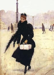 Parisienne, Place de la Concorde, Undated by Jean Beraud | Painting Reproduction