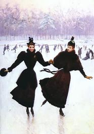 Women Skating, Undated von Jean Beraud | Gemälde-Reproduktion
