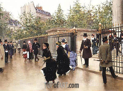 At the Madeleine, Undated | Jean Beraud | Painting Reproduction