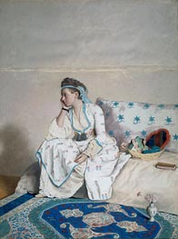 Portrait of Mary Gunning Countess of Coventry in Turkish Costume, c.1752/54 von Jean Etienne Liotard | Gemälde-Reproduktion