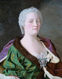 Portrait of Maria Theresia, 1747 by Jean Etienne Liotard | Painting Reproduction
