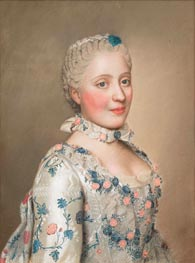 Portrait of Marie Josephe van Saksen dauphine van Frankrijk, c.1749/50 by Jean Etienne Liotard | Painting Reproduction