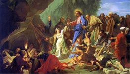The Resurrection of Lazarus | Jean-Baptiste Jouvenet | Painting Reproduction