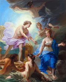 Apollo on his Chariot is Presented to Thetys | Jean-Baptiste Jouvenet | Painting Reproduction