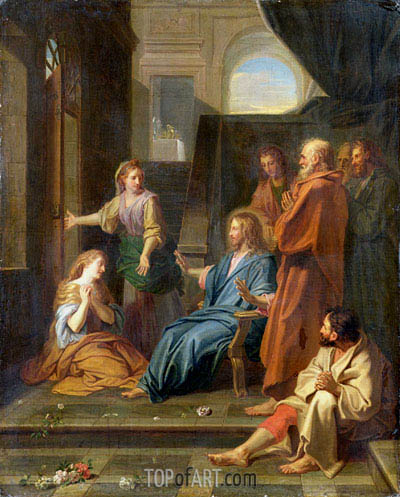 Christ in the House of Martha and Mary, Undated | Jean-Baptiste Jouvenet | Painting Reproduction