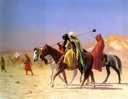 Arabs Crossing the Desert, 1870 by Gerome | Painting Reproduction
