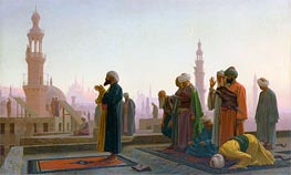 Prayer in Cairo (Prayer on the Rooftops of Cairo), 1865 by Gerome | Painting Reproduction