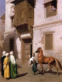 Cairene Horse Dealer (The Horse Market), 1867 by Gerome | Painting Reproduction