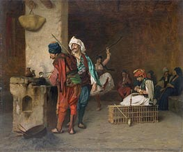 Cafe House, Cairo (Casting Bullets) | Gerome | Painting Reproduction