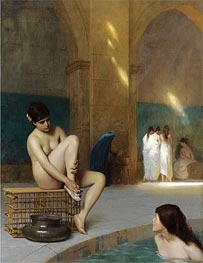Nude Woman Bathing, c.1889 by Gerome | Painting Reproduction