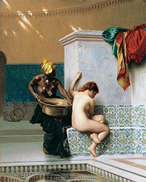Moorish Bath, Two Women (Turkish Bath) | Gerome | Gemälde Reproduktion