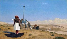 Prayer in the Desert | Gerome | Painting Reproduction