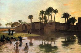 Bathers by the Edge of a River | Gerome | Painting Reproduction