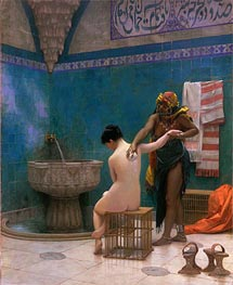 Moorish Bath, c.1880/85 by Gerome | Painting Reproduction