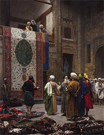 The Carpet Merchant, c.1887 by Gerome | Painting Reproduction