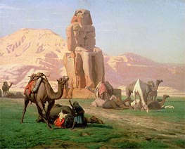 The Colossus of Memnon, 1857 by Gerome | Painting Reproduction