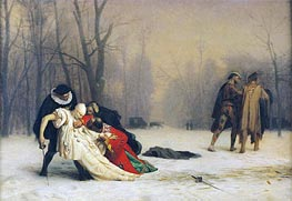 At the End of the Masked Ball, 1867 by Gerome | Painting Reproduction