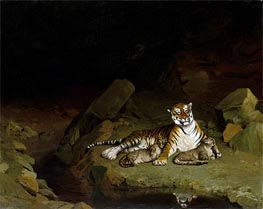 Tiger and Cubs, c.1884 by Gerome | Painting Reproduction