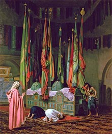 The Shrine of Imam Hussein, undated by Gerome | Painting Reproduction