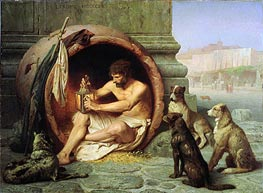 Diogenes, 1860 by Gerome | Painting Reproduction