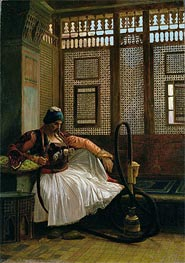 Arnaut Smoking, undated by Gerome | Painting Reproduction