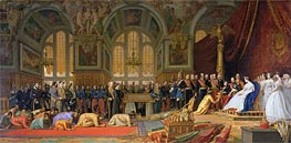 The Reception of Siamese Ambassadors by Emperor Napoleon III at the Palace of Fontainebleau, 1861 by Gerome | Painting Reproduction