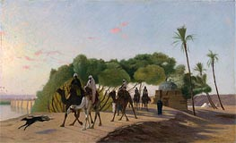 Leaving the Oasis, c.1880/90 by Gerome | Painting Reproduction