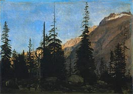 Alpine Landscape: The Handegg, Switzerland, c.1850 by Gerome | Painting Reproduction