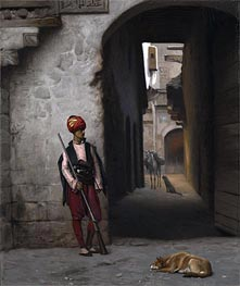 The Guard, 1889 by Gerome | Painting Reproduction