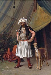 A Bashi-Bazouk and His Dog, undated by Gerome | Painting Reproduction