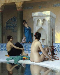 After the Bath, undated by Gerome | Painting Reproduction