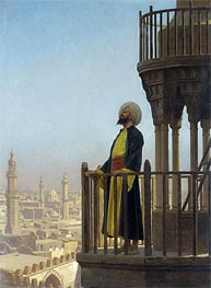 The Muezzin, undated by Gerome | Painting Reproduction