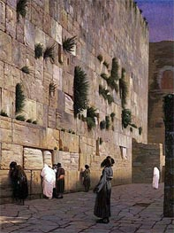 Solomon's Wall Jerusalem (The Wailing Wall), undated by Gerome | Painting Reproduction