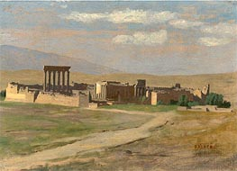 View of Baalbek | Gerome | Gemälde Reproduktion