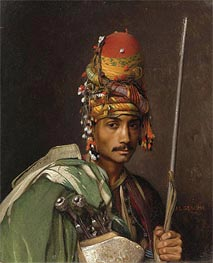 A Bashi-Bazouk, undated by Gerome | Painting Reproduction