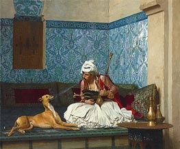 A Joke (Arnaut Blowing Tobacco Smoke at the Nose of His Dog) | Gerome | Gemälde Reproduktion