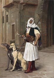 Arnaut with Two Whippets Dogs | Gerome | Gemälde Reproduktion