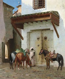 Horses Kept by a Slave | Gerome | Painting Reproduction