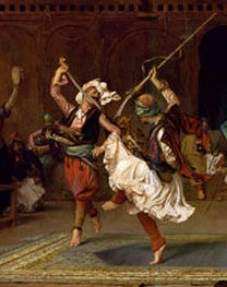 The Pyrrhic Dance (Detail) | Gerome | Painting Reproduction