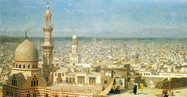 View of Cairo, 1891 by Gerome | Painting Reproduction