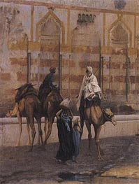Camels at the Watering Place (Detail) | Gerome | Painting Reproduction