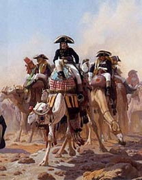 Napoleon and His General Military Staff in Egypt (Detail), 1867 by Gerome | Painting Reproduction