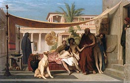 Socrates Seeking Alcibiades at the House of Aspasia, 1861 by Gerome | Painting Reproduction