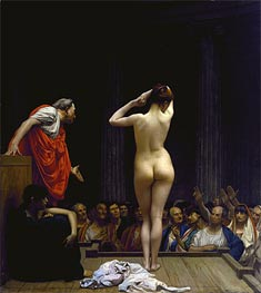 A Roman Slave Market, c.1884 by Gerome | Painting Reproduction
