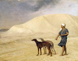 On the Desert, b.1867 by Gerome | Painting Reproduction
