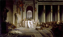 The Death of Caesar, c.1859/67 by Gerome | Painting Reproduction