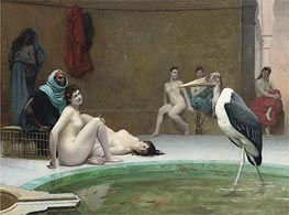 Moorish Bath (Le Marabout), c.1889 by Gerome | Painting Reproduction
