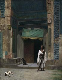 Portal of the Green Mosque (Sentinel at the Sultan's Tomb), c.1870 by Gerome | Painting Reproduction